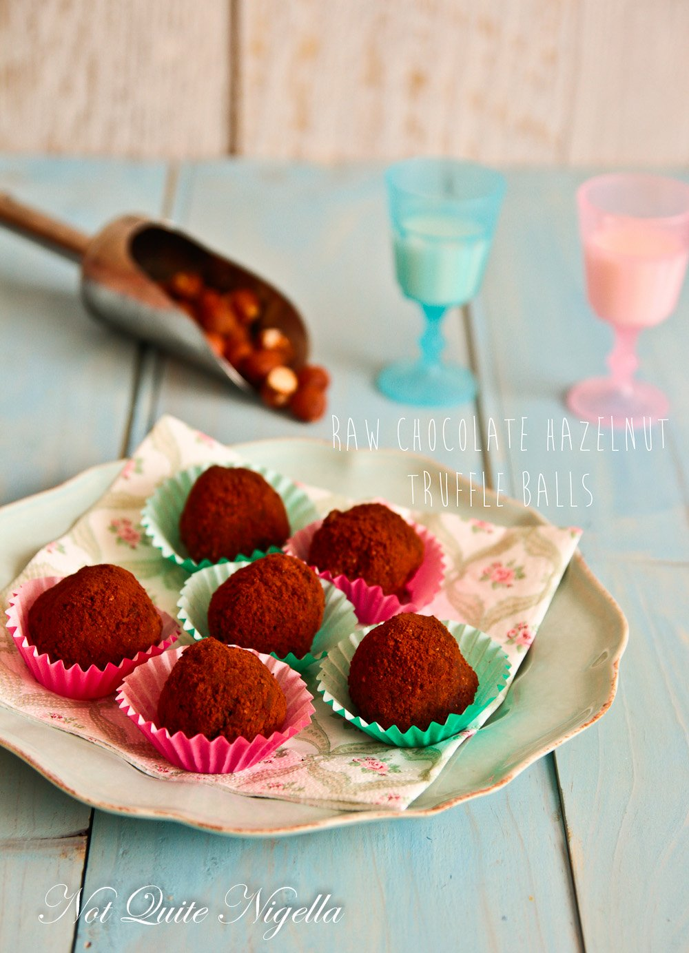 Chocolate Hazelnut Healthy Truffle Balls
