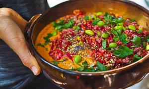 A Colourful Healthy Hummus Bowl