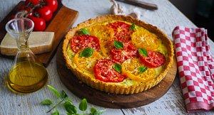 Breath Of Fresh Heir! Heirloom Tomato & Goat's Cheese Tart