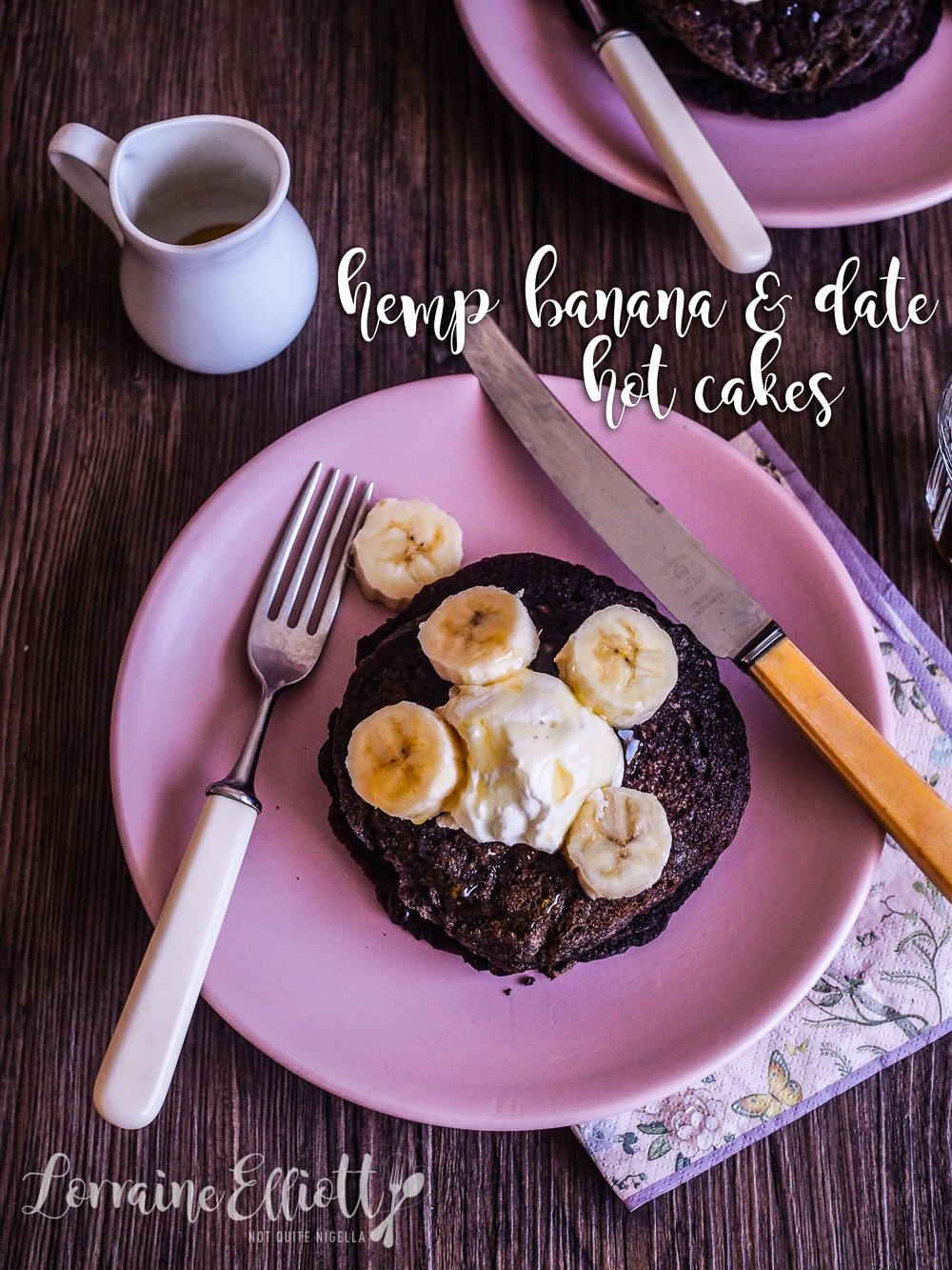 Hemp, Banana & Date Pancakes