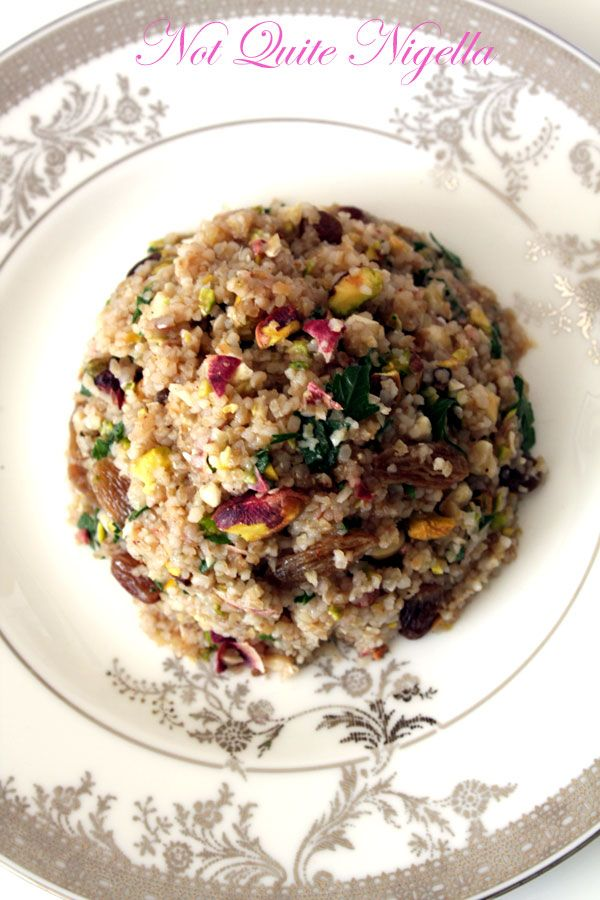Herbed and Honeyed Bulgur Wheat Nut Salad and some shout-outs!
