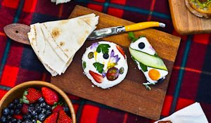 Picnic Treat: Floral Herbed Goat's Cheese