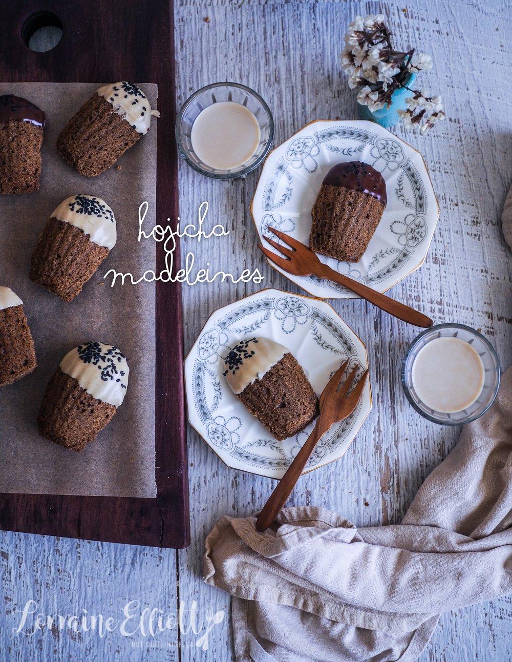 Hojicha madeleines