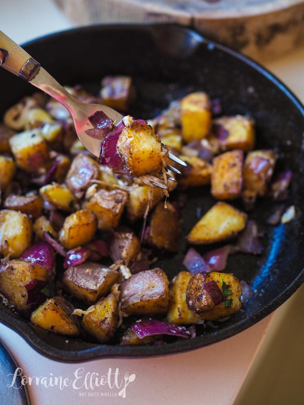 Crispy Home Fries With Garlic & Parmesan