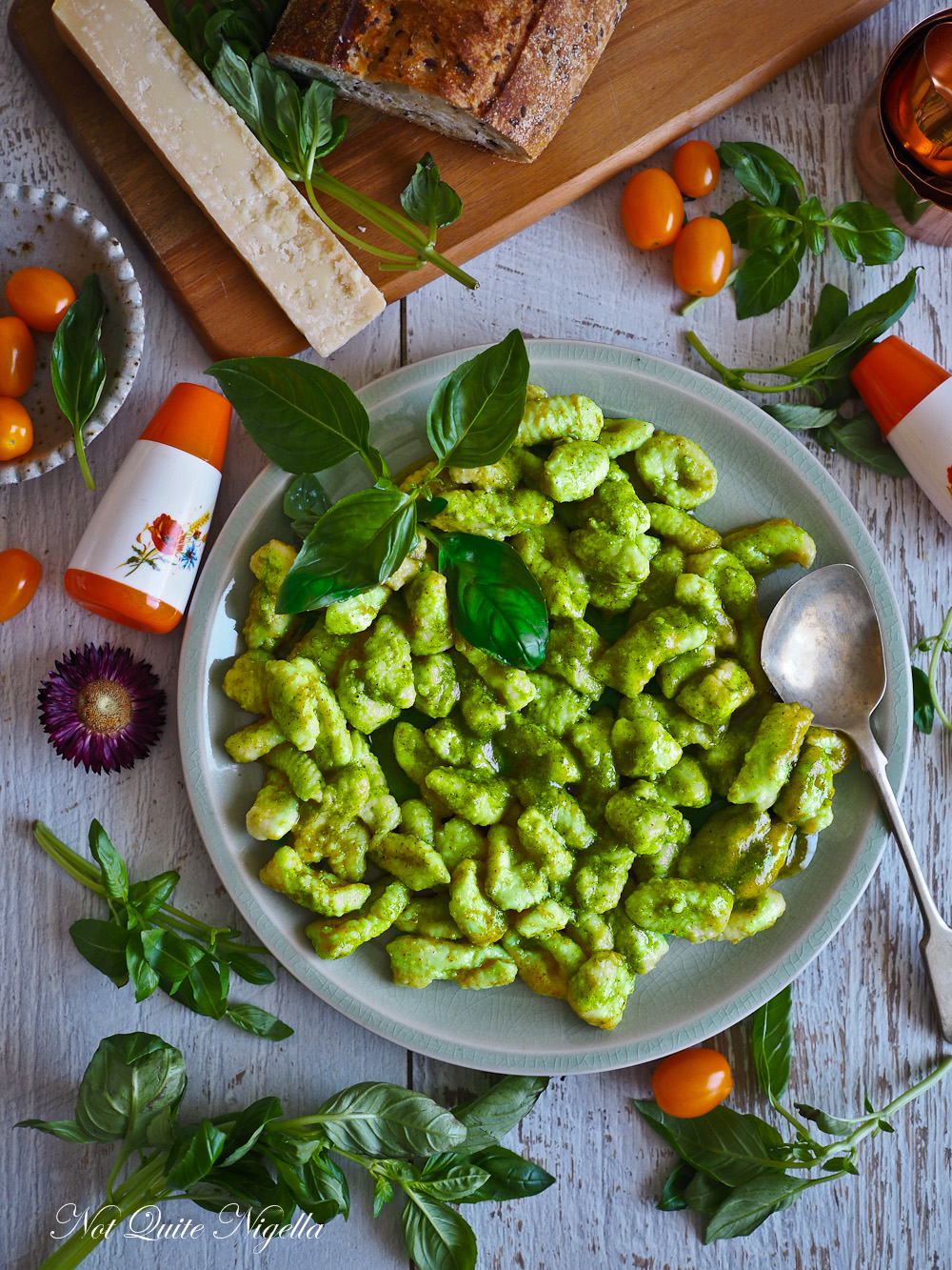Homemade Gnocchi With Pistachio Almond Pesto