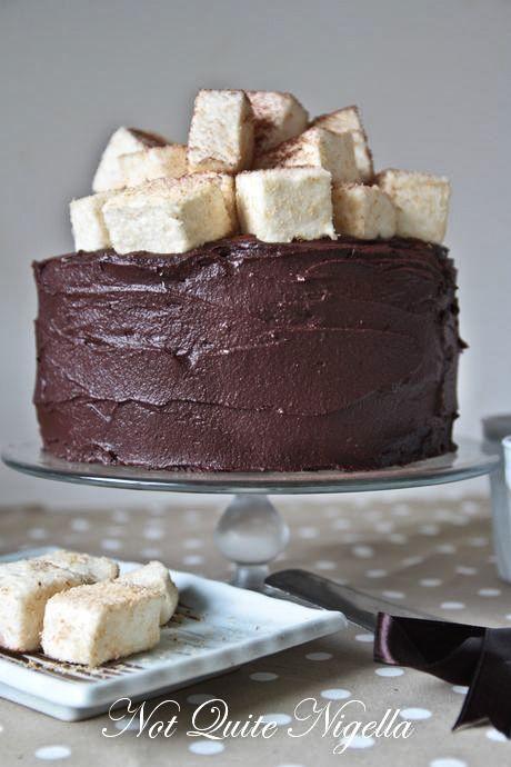 hot chocolate cake marshmallows