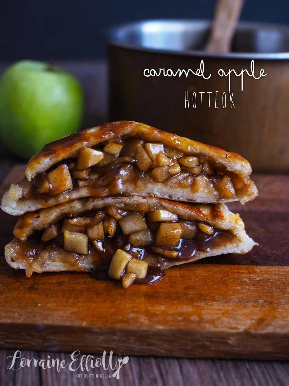 Hotteok Recipe caramel apple