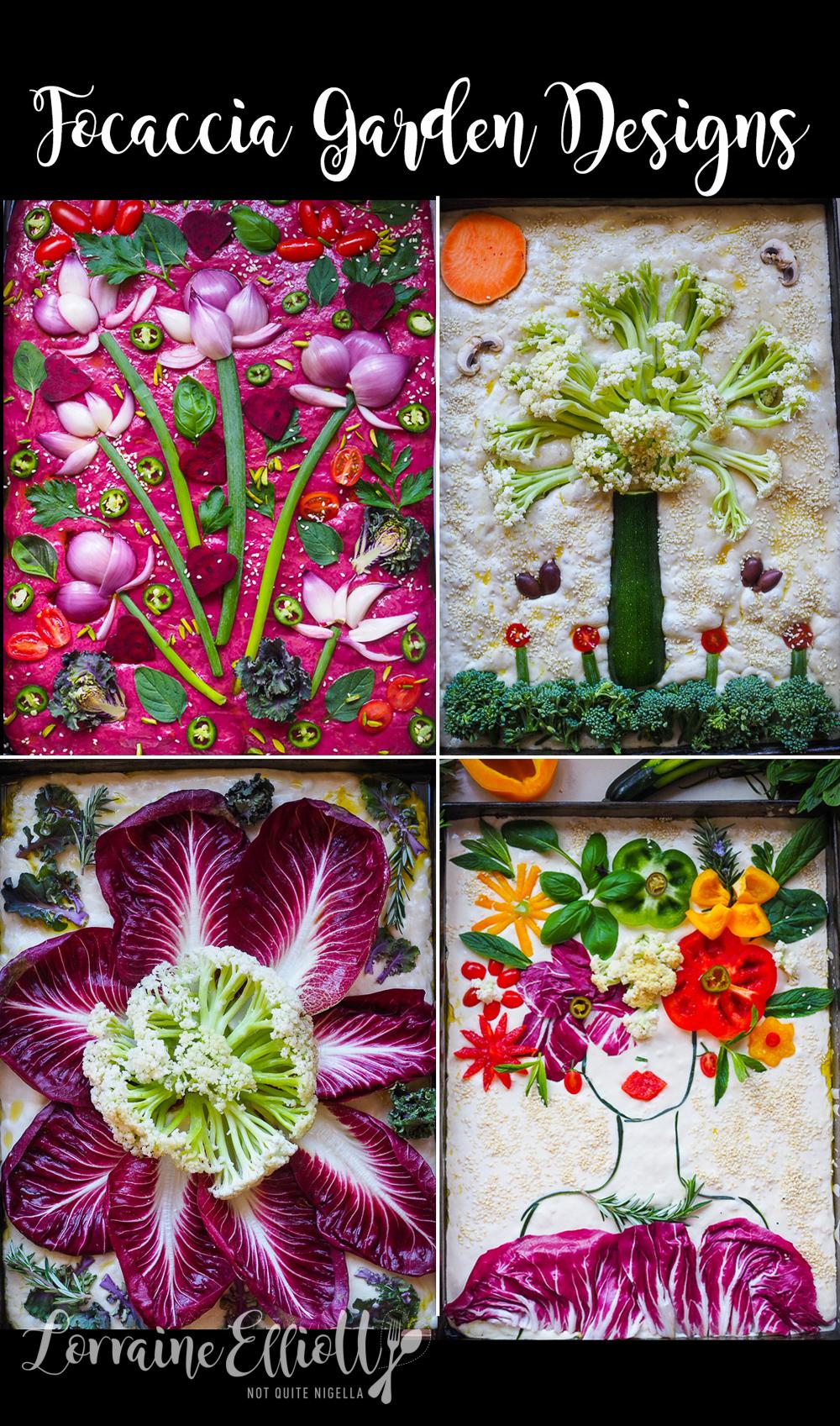 Four Focaccia Garden Designs