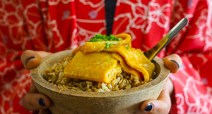 How To Make Perfect Brown Rice {with Japanese Omelette}