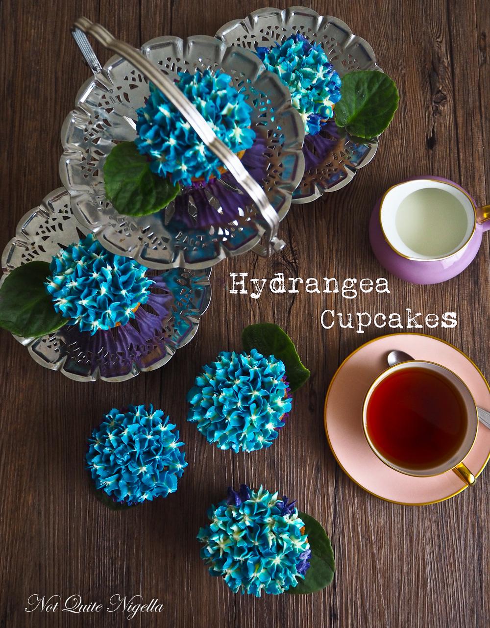 Hydrangea Cupcake Tutorial