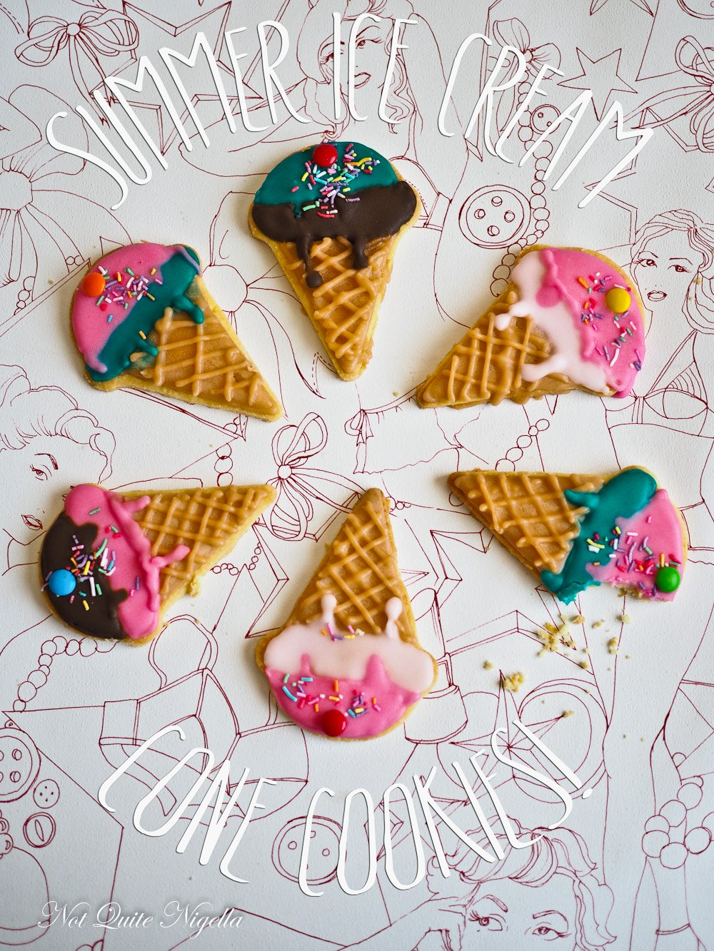 Ice Cream Cone Cookies