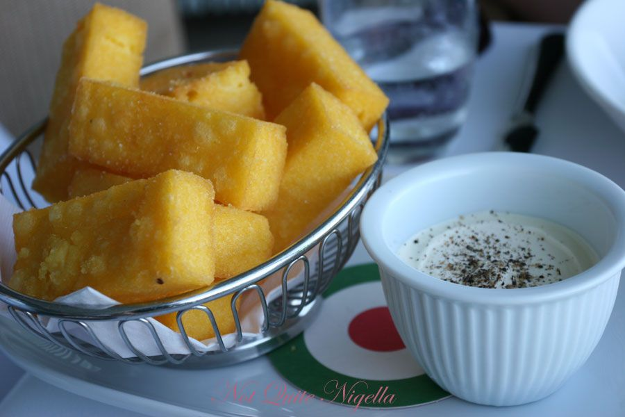Icebergs Dining Room and Bar at Bondi Beach Polenta chips