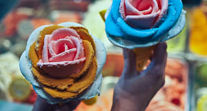 Iced Couture: Gelato Flowers at i-Creamy, Sydney
