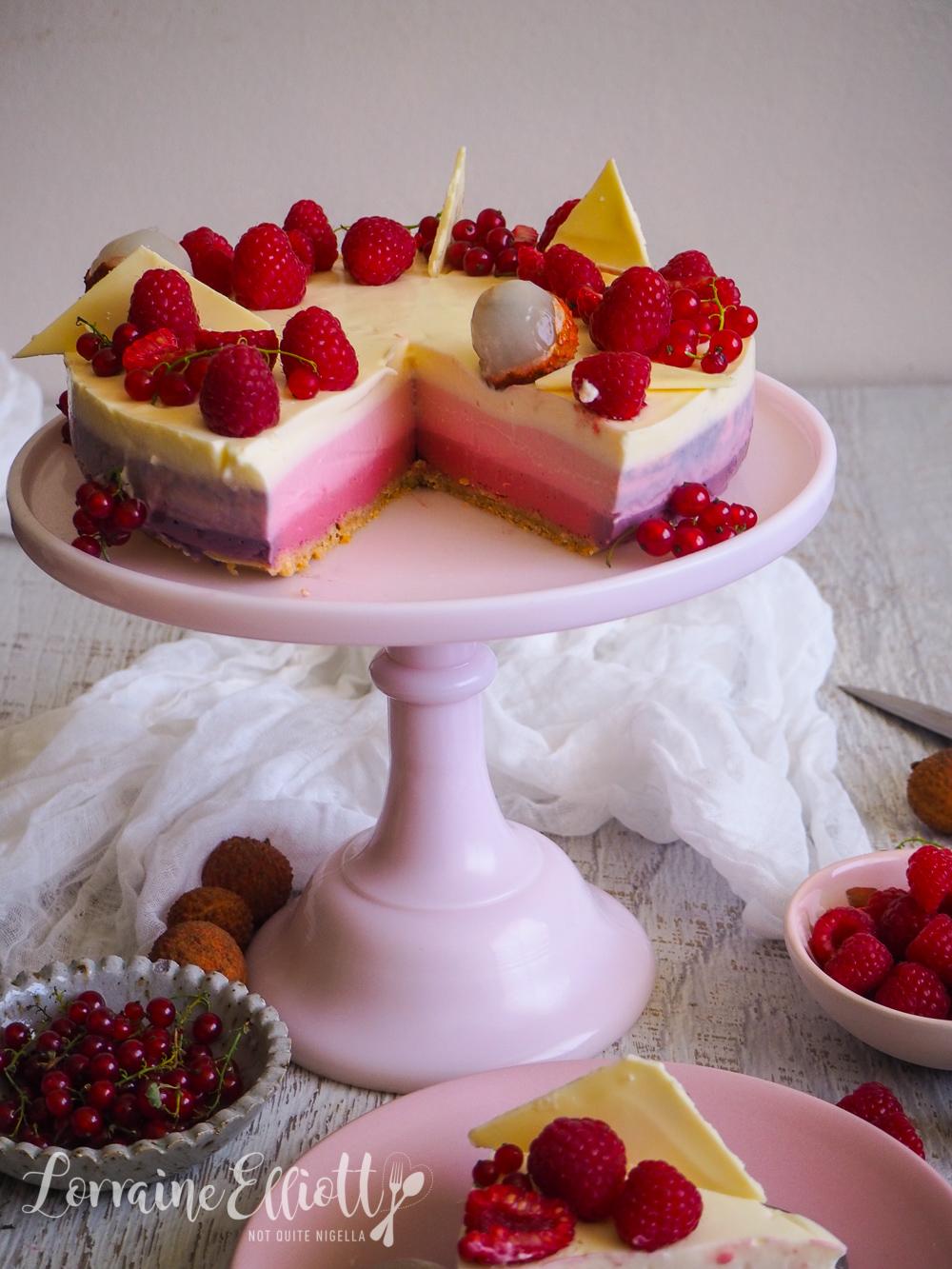Raspberry Ombre Cheesecake