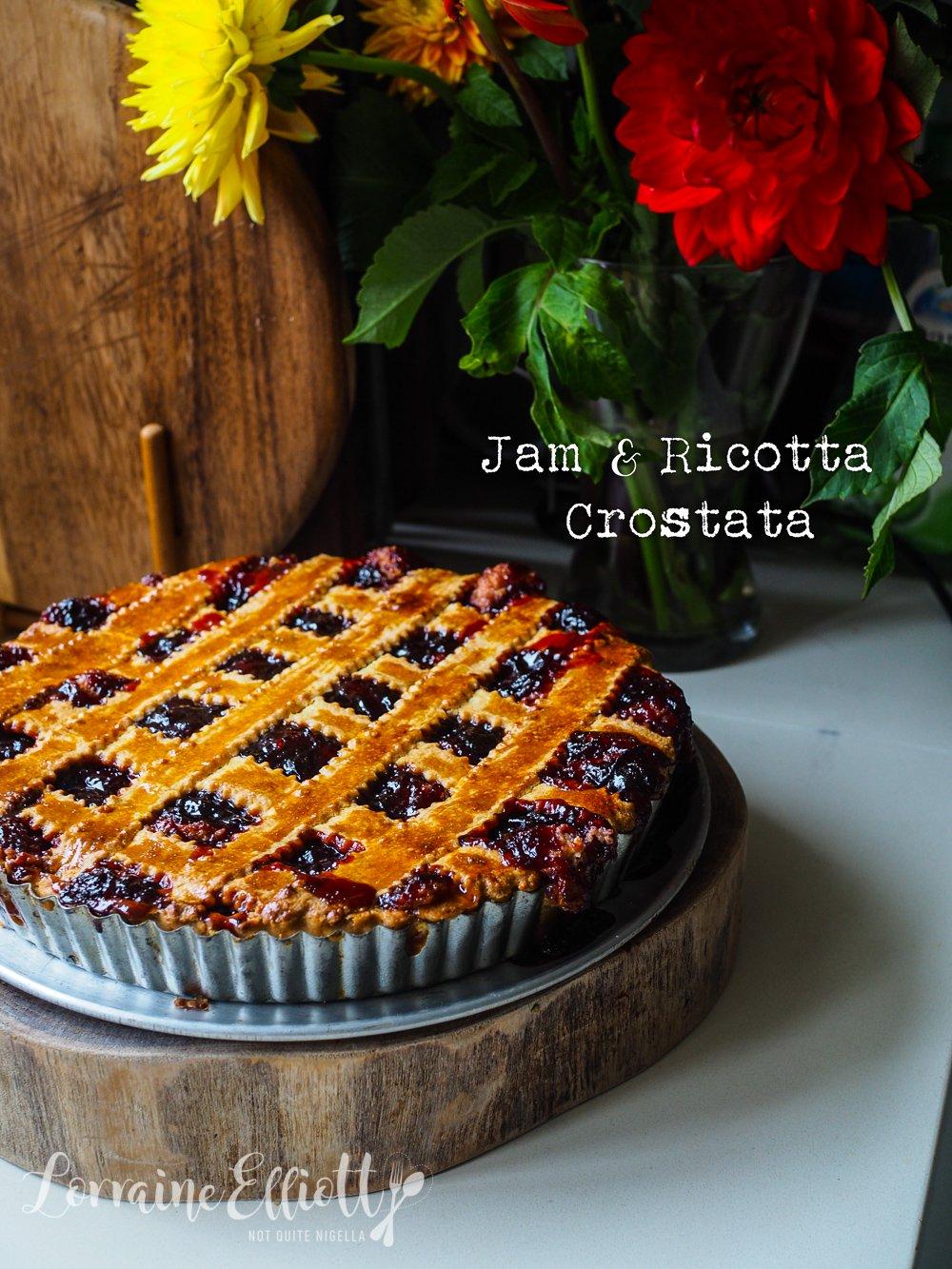 Italian Plum Jam & Ricotta Crostata