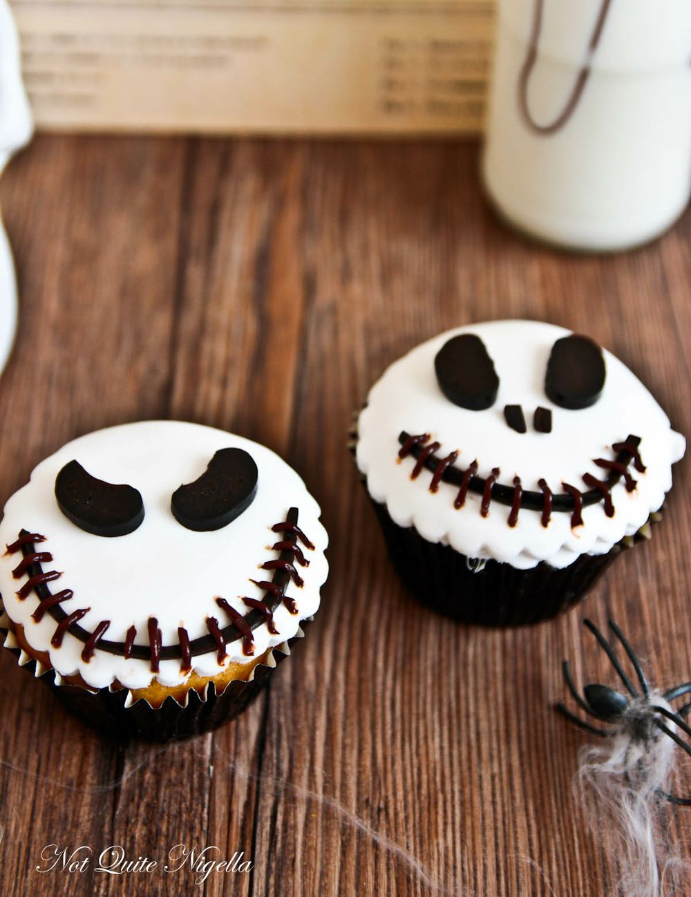 Jack Skellington Cupcakes Not Quite Nigella