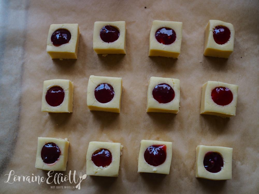 Jam Shortbread Squares Cookies