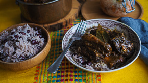 MELTING Jamaican Beef Short Ribs With Rice & Peas and Pikliz