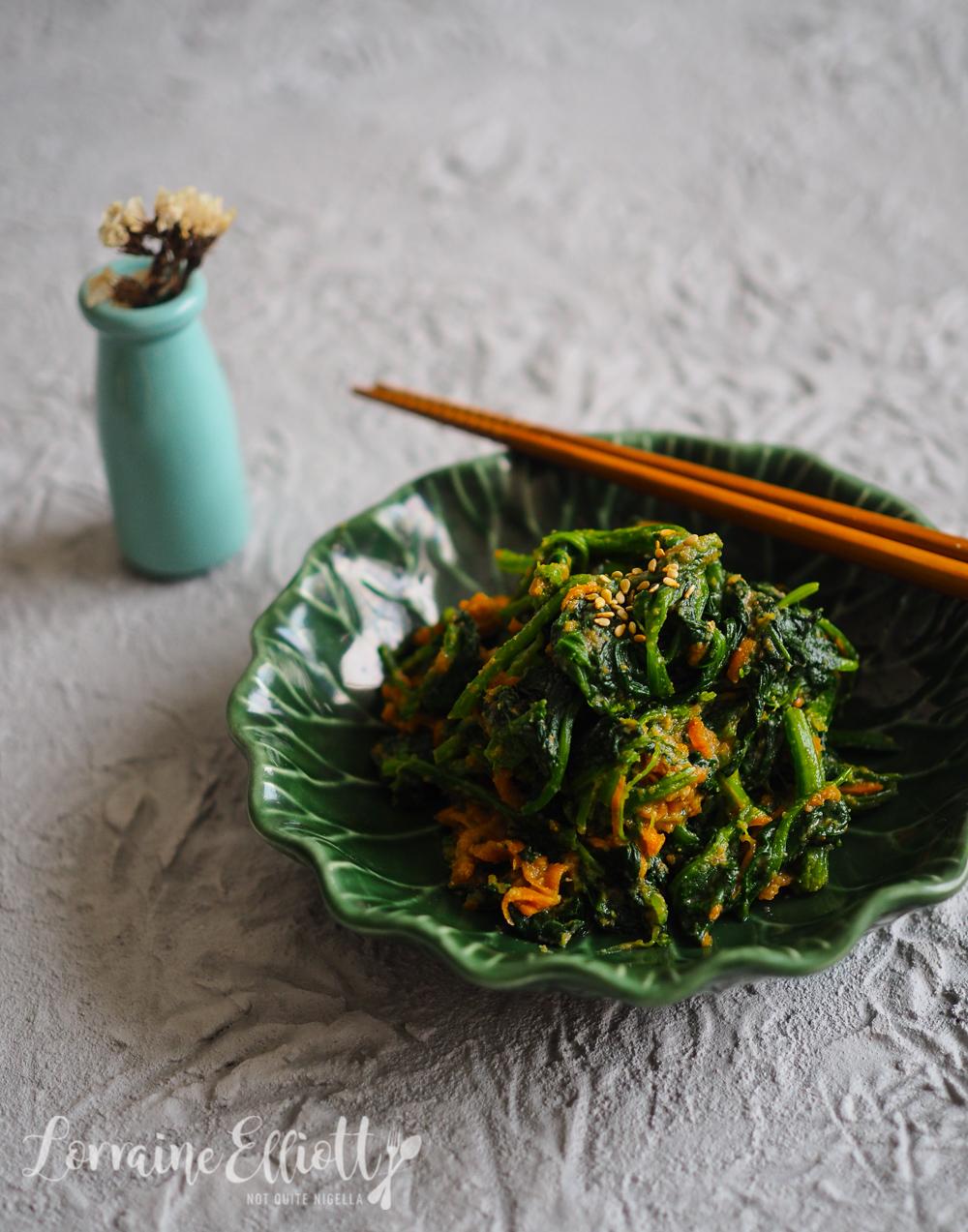 Japanese Sesame Spinach Gomaae