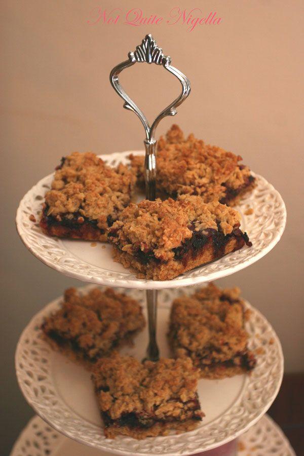 Cherry oatmeal slice