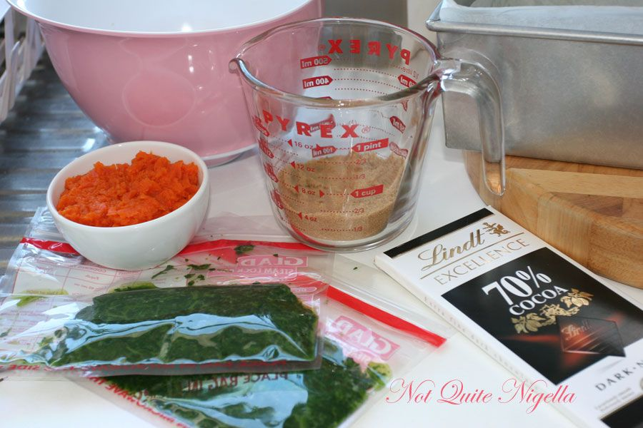 Deceptively Delicious's Brownies with carrot and spinach boxed ingredients