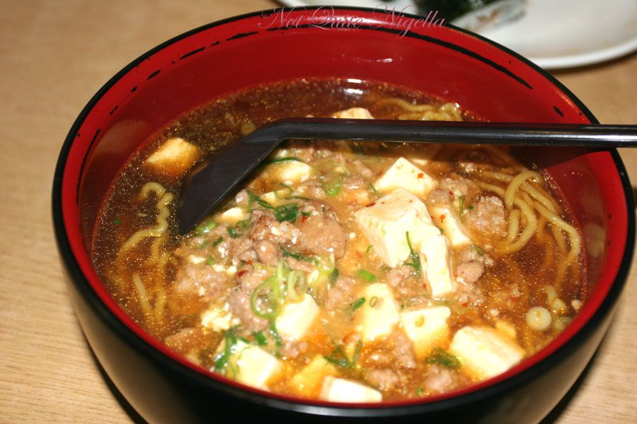 Jipang Japanese Noodle House at Manly Mabou tofu ramen