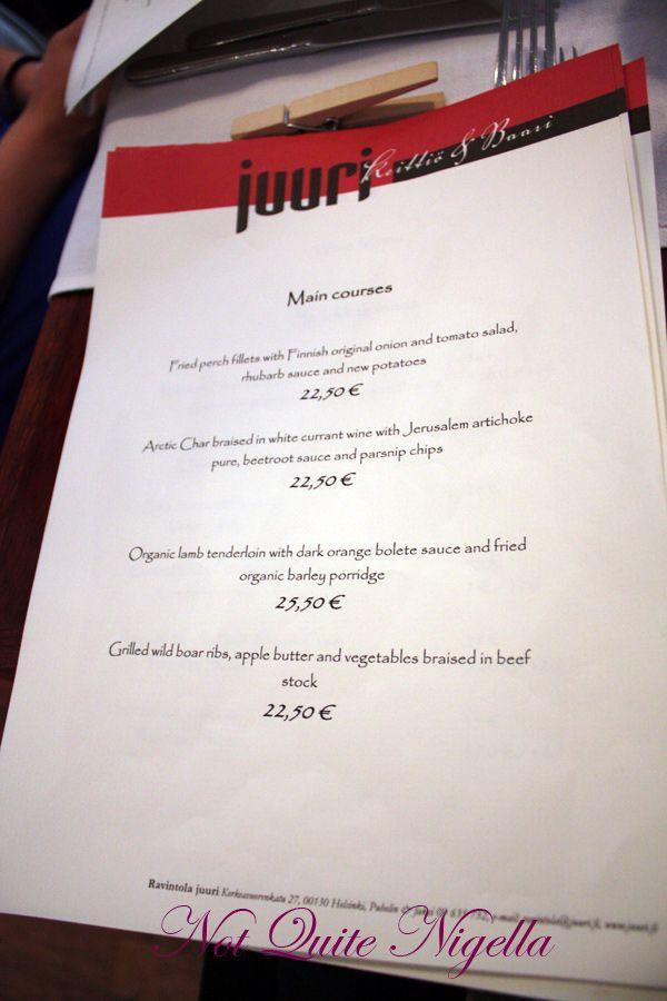 Juuri Sapas Helsinki menu
