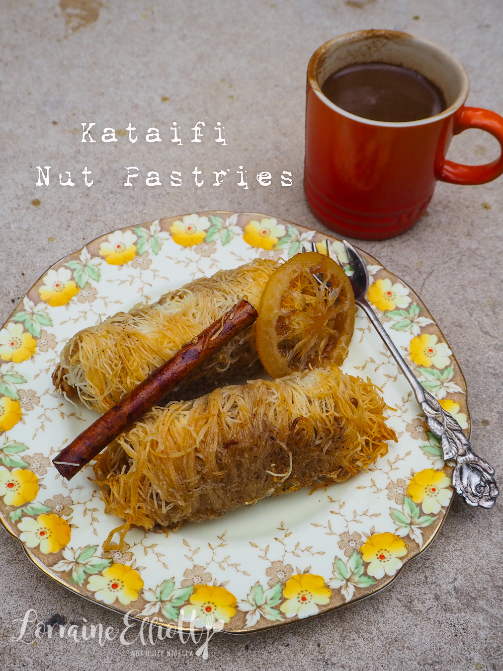 Kataifi Greek Nut Pastries in Syrup