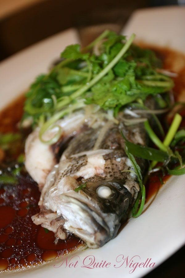 Kensington Peking restaurant Steamed Barramundi