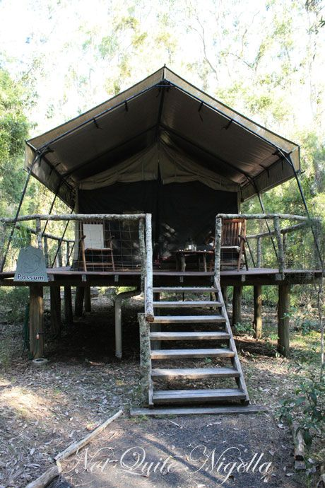 paperbark camp front tent