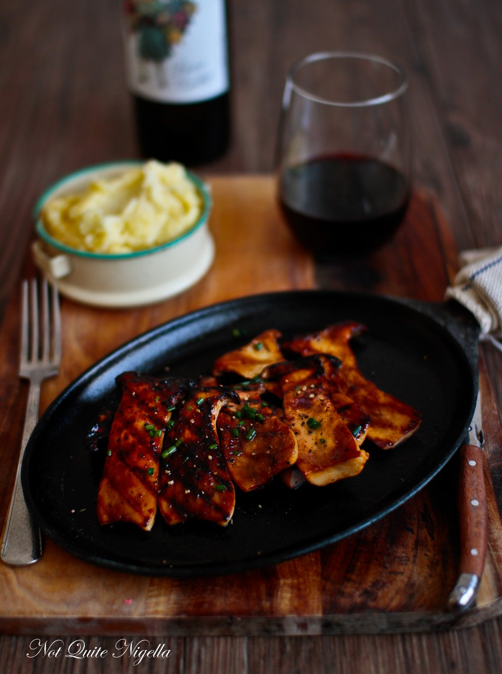 King Mushroom Recipe Steak