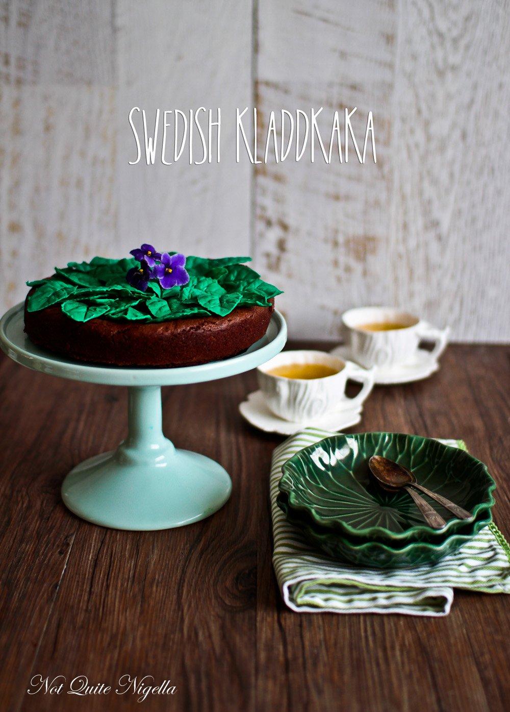 Kladdkaka Swedish Chocolate Cake Recipe
