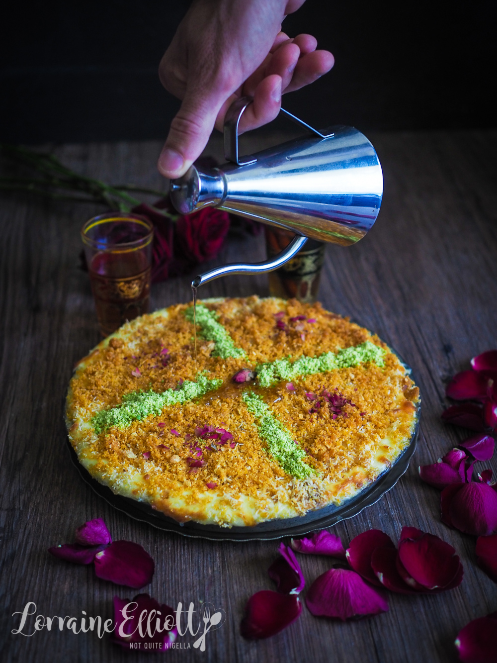 Knafeh Middle Eastern Custard Dessert