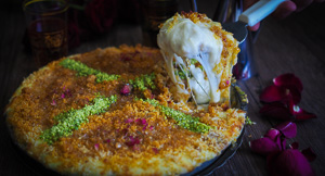 CHEESY Knafeh, The Middle Eastern Dessert!