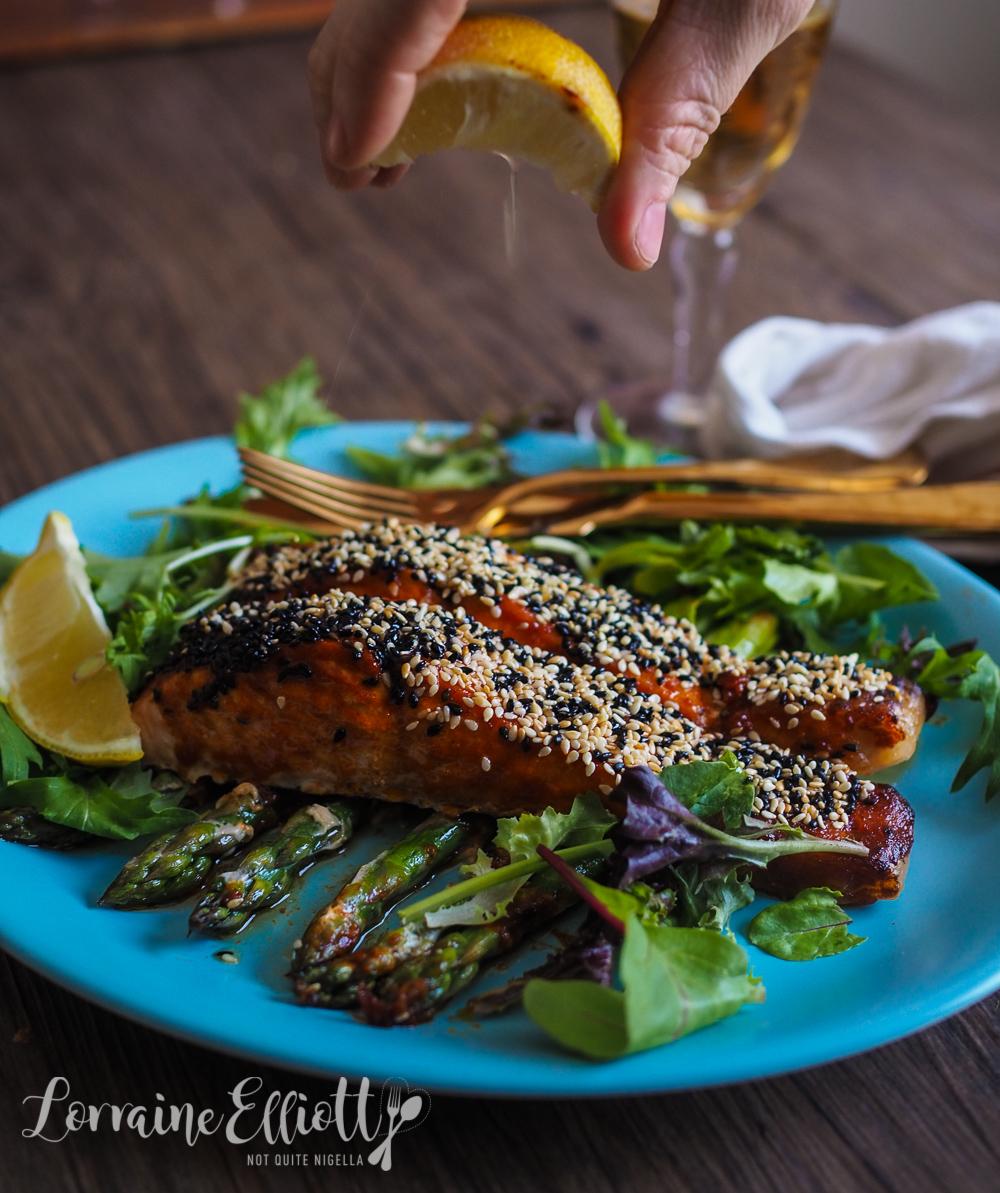 Gochujang Grilled Salmon & Potatoes
