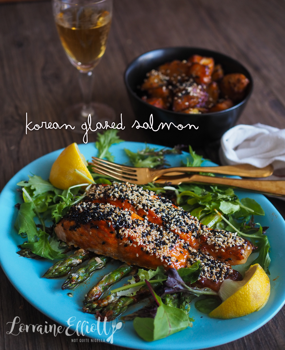 Gochujang Grilled Salmon & Potatoes