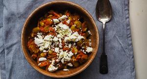 Koukia Lathera - Greek Broad Beans With Feta