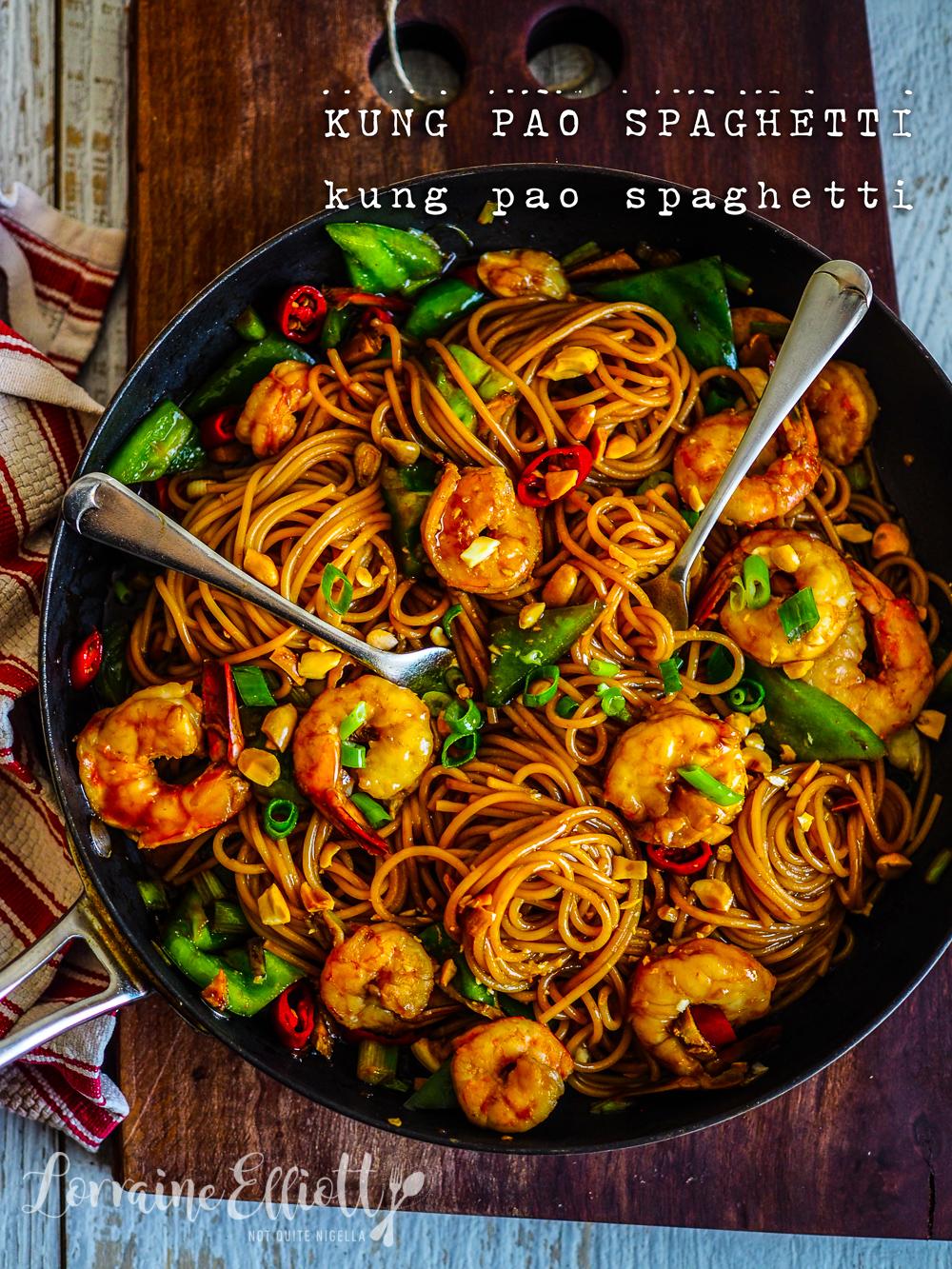 Kung Pao Prawn Spaghetti