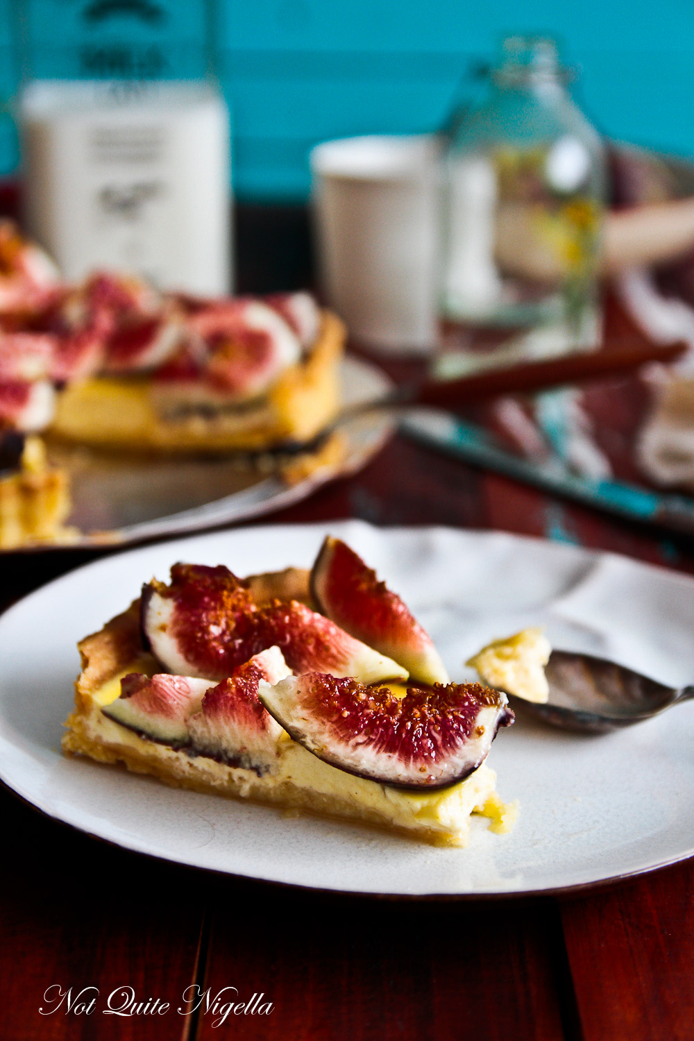 Fig and Labneh tart