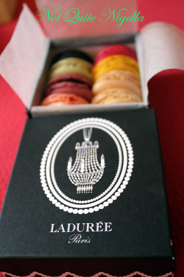 Laduree at the Champs Elysee macarons