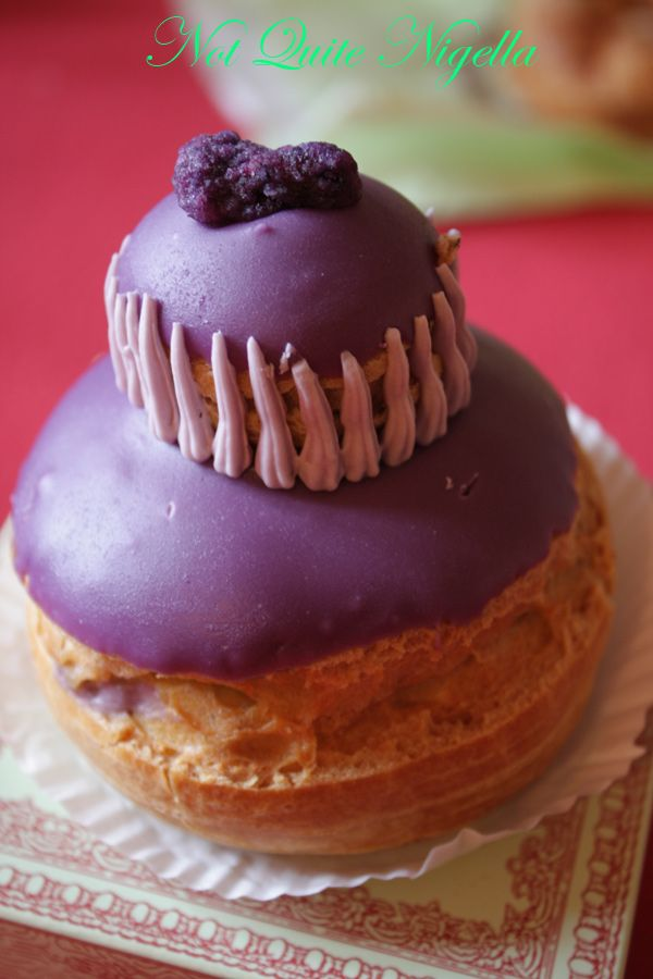Laduree at the Champs Elysee Religieuse de Violette