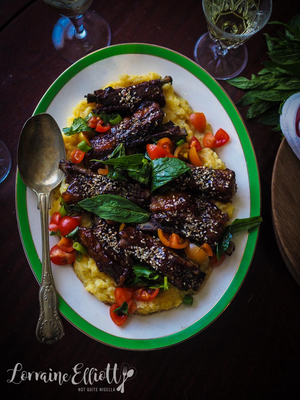 Lamb Ribs With Hoi Sin Sauce & Sesame