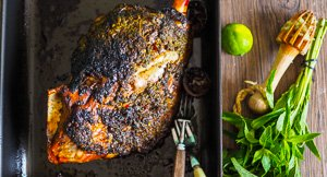 Lime Yours! Vietnamese Style Sticky Mint & Lime Lamb Shoulder