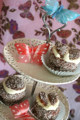 Lamington Angel cupcakes