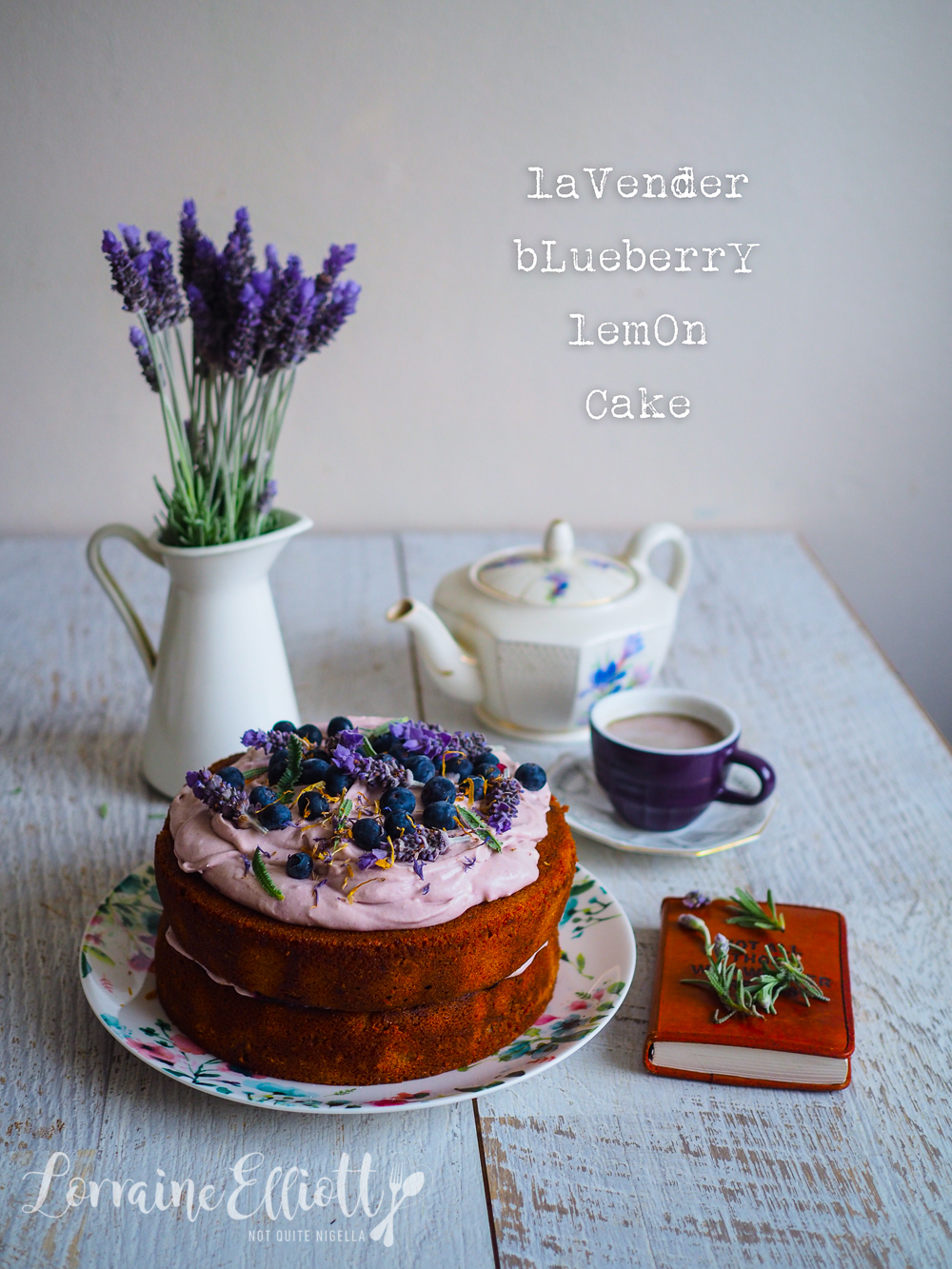 Lavender Blueberry & Lemon Gluten Free Cake
