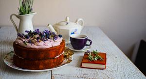 Luscious Lavender Blueberry & Lemon {Gluten Free} Cake!