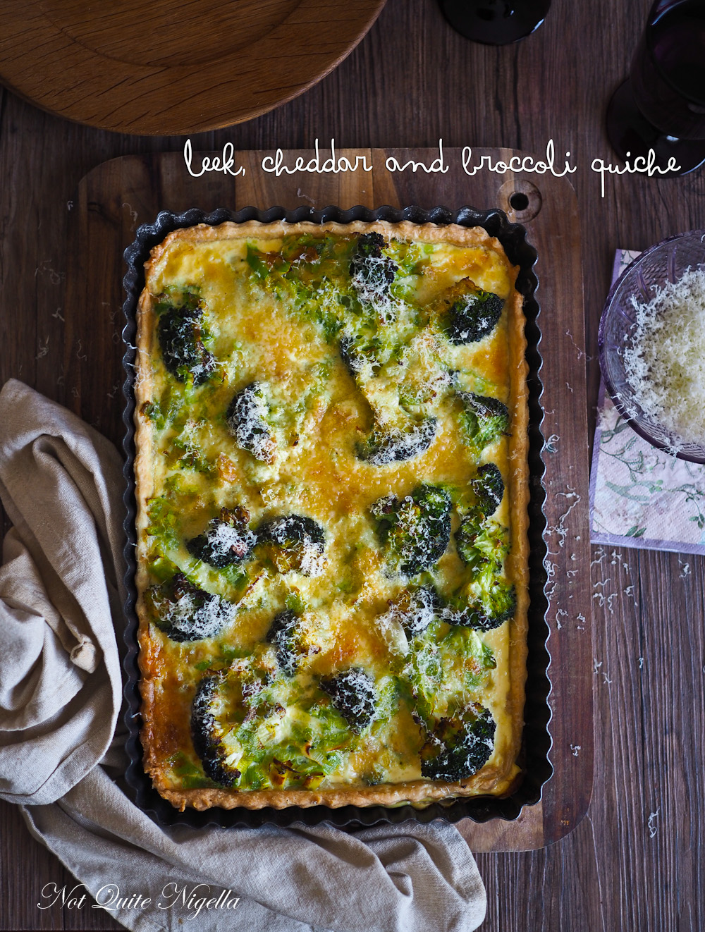 Vegetarian Quiche Leek Broccoli Cheese