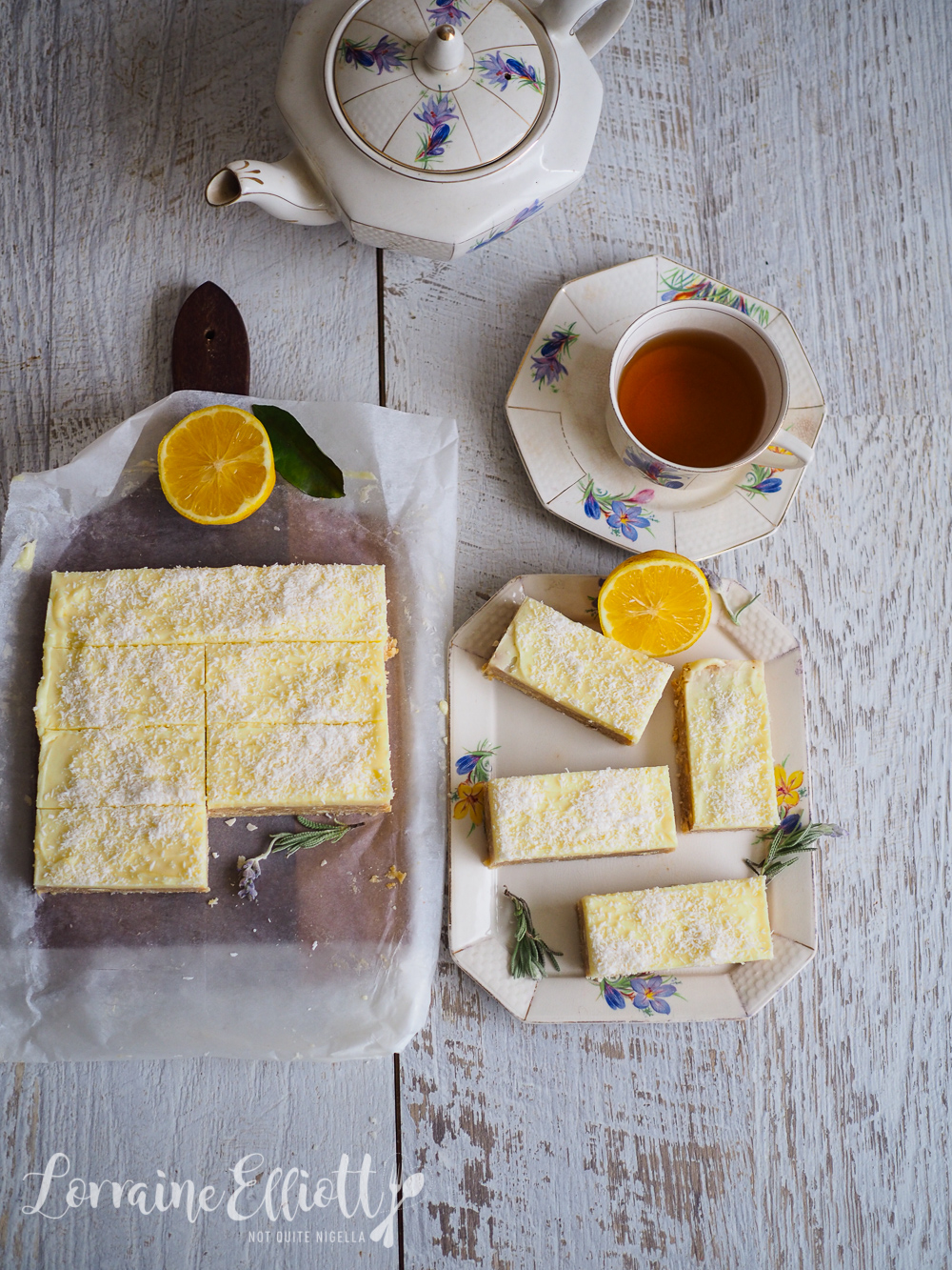 No Bake Lemon Coconut Bars