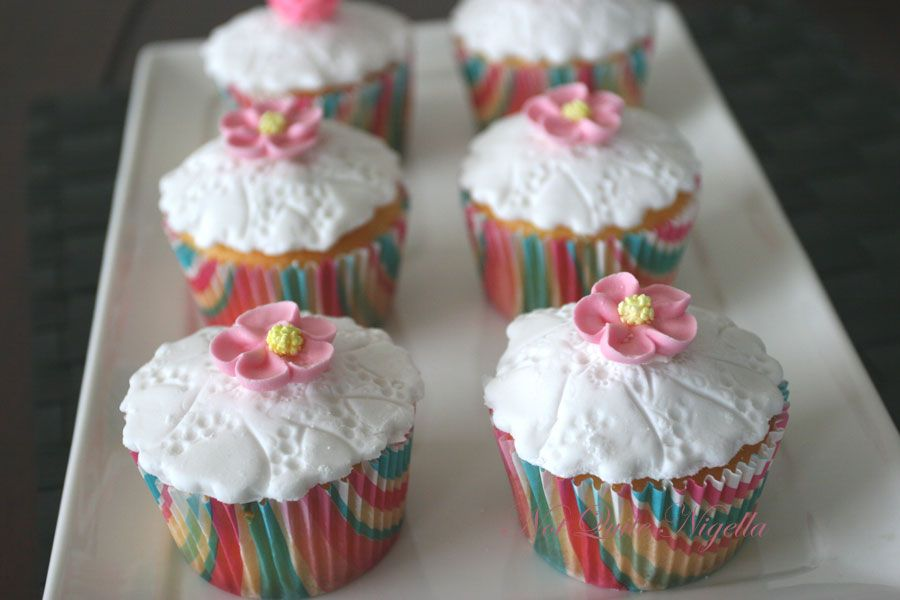 Lemon curd cupcakes for baby Audrey Louise