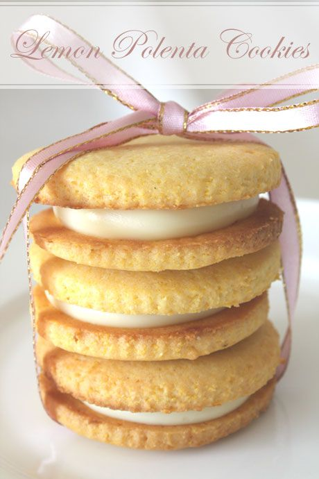 Lemon Polenta Sandwich Cookies